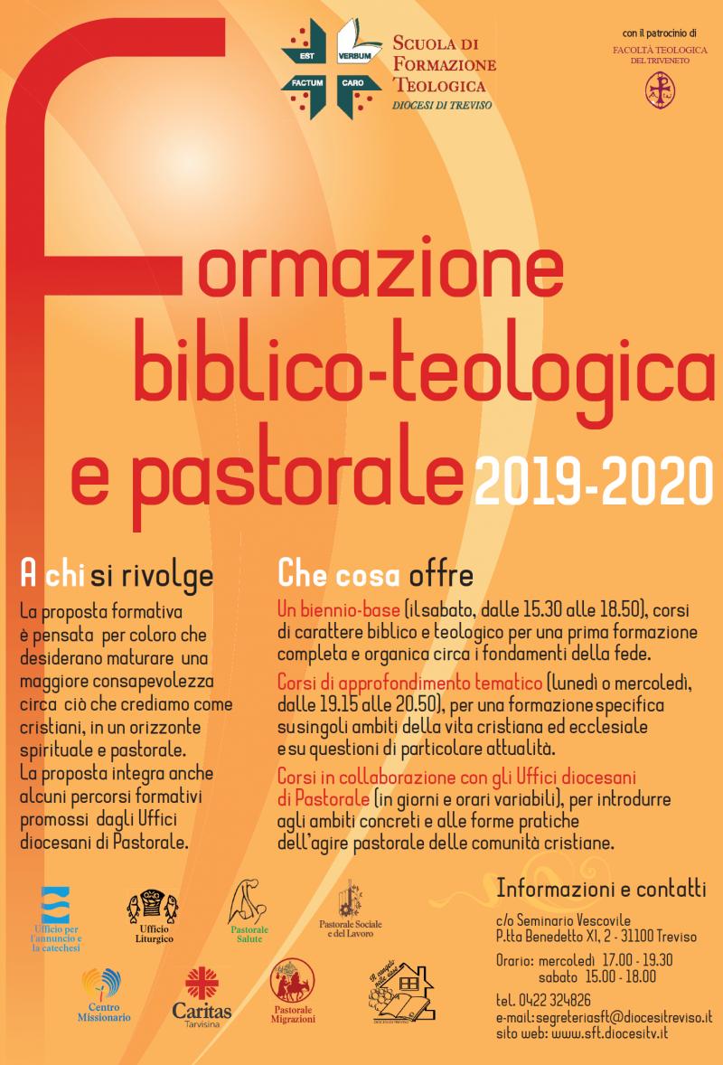 Calendario Pastorale 2020.Programma Dei Corsi E Calendario 2019 2020 E Iscrizioni